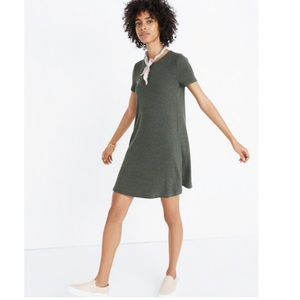 Madewell Olive Green Ribbed Swingy Tee Dress